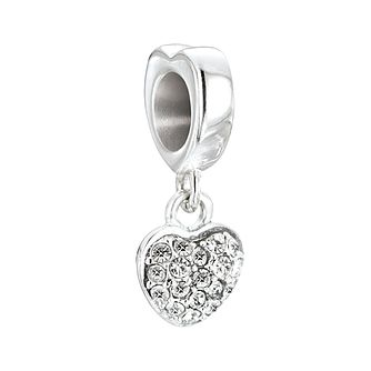 Chamilia Petites pave heart bead with Swarovski crystal - Product number 2873591