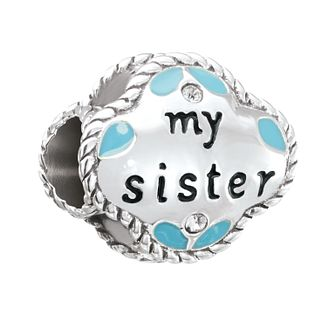 Chamilia Silver & Swarovski Crystal My Sister My Friend Bead - Product number 2873710