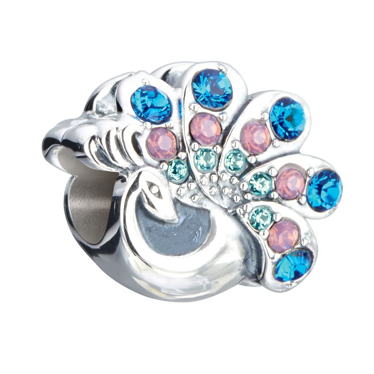 Chamilia Sterling Silver & Swarovski Crystal Peacock Bead - Product number 2873753