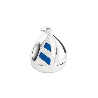 Chamilia Sterling Silver & Blue Enamel Sail Away Boat Bead - Product number 2876485