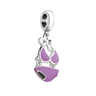 Chamilia Sterling Silver & Purple Enamel Beach Bikini Bead - Product number 2876558