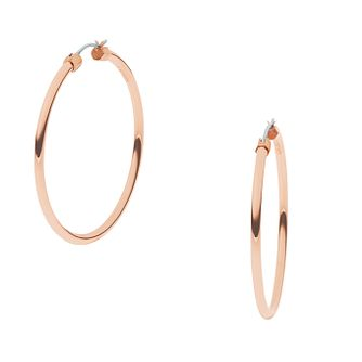 DKNY Stanhope Rose Gold Tone Hoop Earrings - Product number 2876825