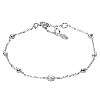 Fossil Ladies' Sterling Silver Cubic Zirconia Bracelet - Product number 2878542