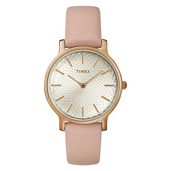 Timex Metropolitan Ladies' Blush Pink Leather Strap Watch - Product number 2892235