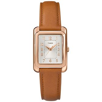 Timex Meriden Ladies' Tan Leather Strap Watch - Product number 2892278