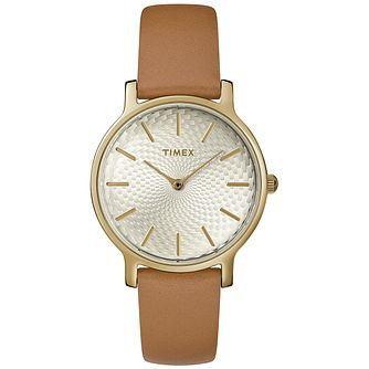 Timex Metropolitan Ladies' Tan Leather Strap Watch - Product number 2892316