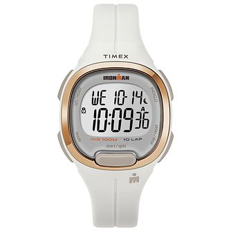 Timex Ironman Ladies' Digital White Resin Strap Watch - Product number 2892391