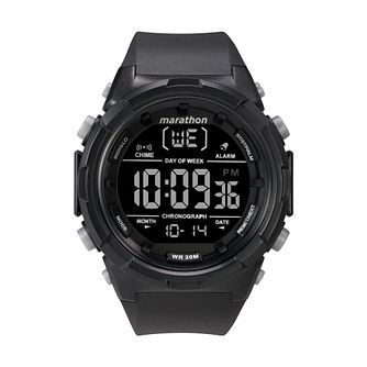 Timex Marathon Men's Digital Black Resin Strap Watch - Product number 2892588