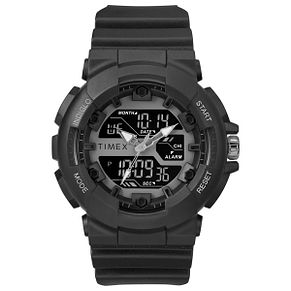 Timex Sports Men's Digital Dial Black Resin Strap Watch - Product number 2892596