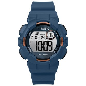 Timex Sports Men's Digitel Blue Silicone Strap Watch - Product number 2892642