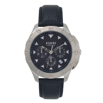Versus Versace Men's Blue Leather Strap Watch - Product number 2892677