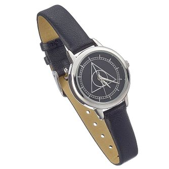 Harry Potter Deathly Hallows Black PU Strap Watch - 30mm - Product number 2892960