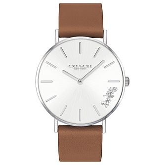 Coach Perry Ladies' Brown Leather Strap Watch - Product number 2897318