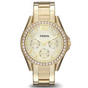 Fossil Ladies' Gold Plated Bracelet Watch - Product number 2901676