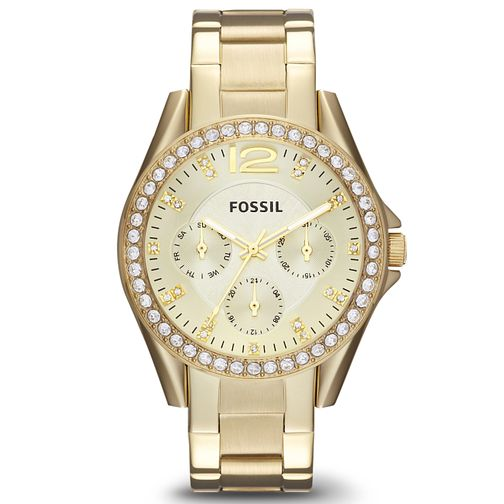 Fossil Riley Ladies' Gold Plated Bracelet Watch - Product number 2901676
