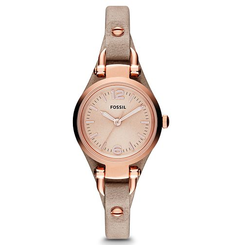 Fossil Ladies' Mini-Georgia Rose Gold Tone & Leather Watch - Product number 2901722