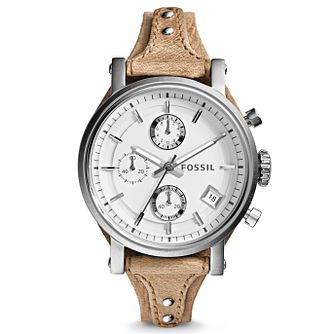 Fossil Original Boyfriend Ladies' Tan Leather Strap Watch - Product number 2901757