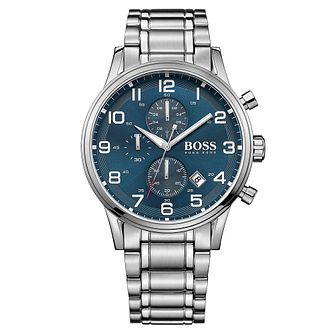 Hugo Boss men's stainless steel chronograph bracelet watch - Product number 2902605