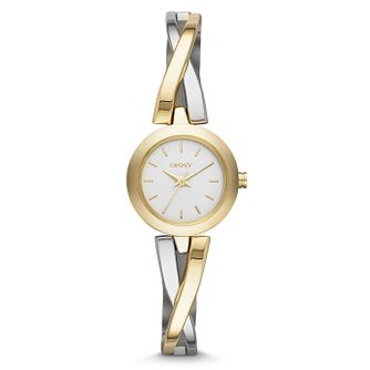 DKNY Gold Plated Bracelet Watch with Round Dial - Product number 2903245
