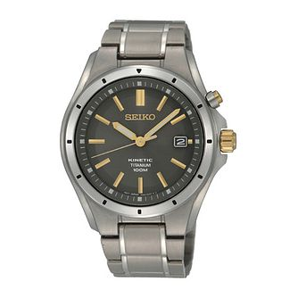 Seiko Ladies' Grey Dial Titanium Bracelet Watch - Product number 2907879