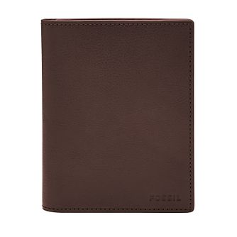 Fossil brown leather passport case - Product number 2909146