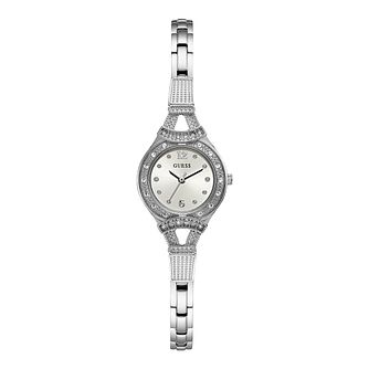 Guess Ladies' Crystal Stainless Steel Bracelet Watch - Product number 2912821