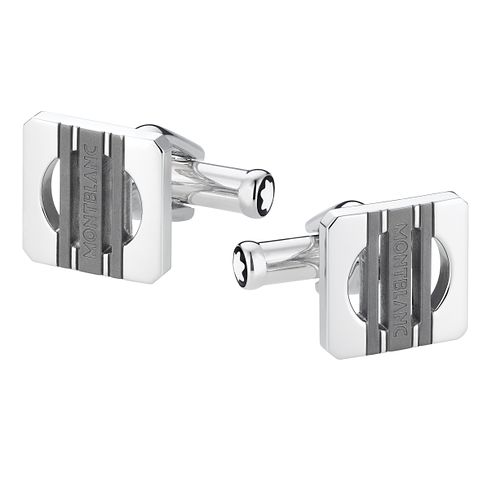 Montblanc stainless steel square three ring cufflinks - Product number 2918404
