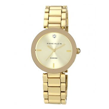 Anne Klein Ladies' Diamond Set Gold-Plated Bracelet Watch - Product number 2920255