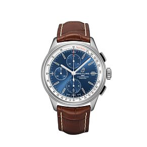 Breilting Premier Chronograph Blue Dial Strap Watch - Product number 2923475