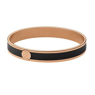 Dyrberg Kern Rose Gold Plate & Black Enamel Slim Bangle - Product number 2923726