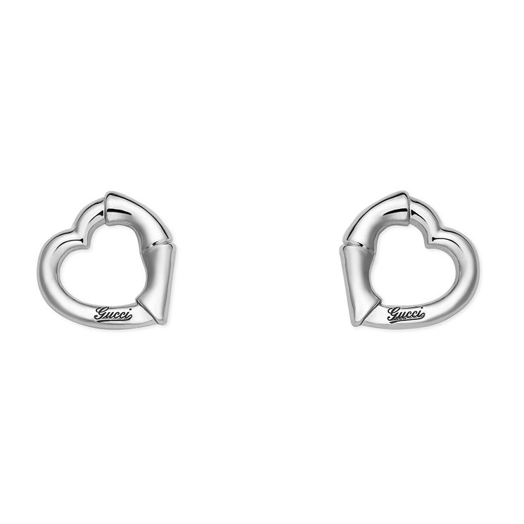 Gucci Sterling Silver bamboo heart studs - Product number 2926598