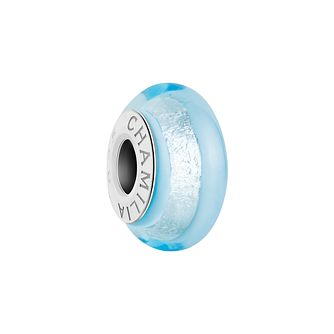 Chamilia Silver Shade sky blue Murano glass bead - Product number 2930803