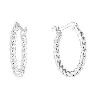 Sterling Silver Twist Hoop Earrings - Product number 2931311