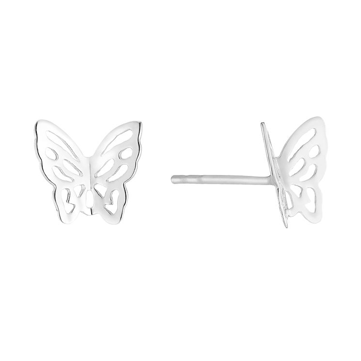 Sterling Silver Butterfly Stud Earrings - Product number 2932075