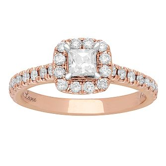 Neil Lane 14ct rose gold 0.81ct princess cut diamond ring - Product number 2935619