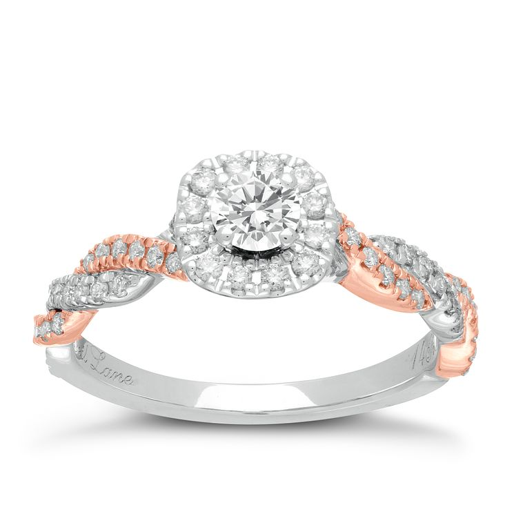Neil Lane 14ct White And Rose Gold 0.53ct Diamond Ring   Product Number  2935880