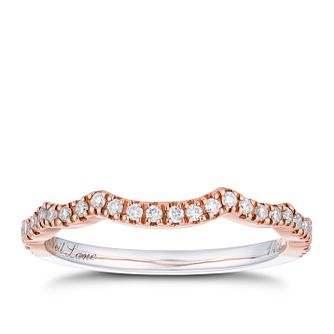 Neil Lane 14ct white and rose gold 18pt diamond shaped band - Product number 2936038