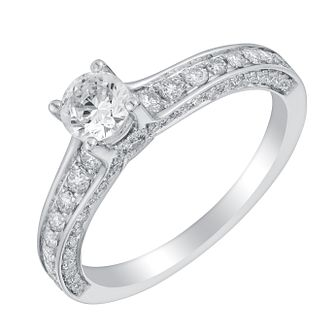 Tolkowsky 18ct White Gold 0.88ct Diamond Ring - Product number 2938510