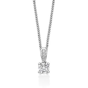 Tolkowsky 18ct White Gold 0.35ct Diamond Drop Pendant - Product number 2939193
