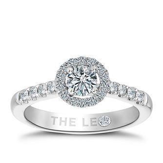 Leo Diamond 18ct white gold 0.75ct round cut diamond ring - Product number 2941260