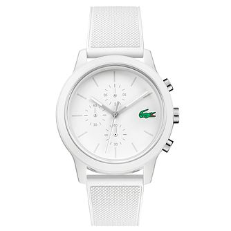 Lacoste 12.12 Men's White Silicone Strap Watch - Product number 2942208