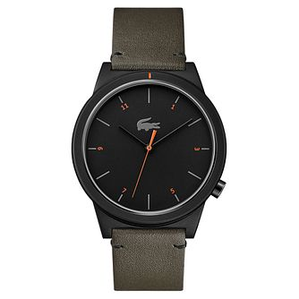 Lacoste Motion Men's Khaki Leather Strap Watch - Product number 2942291