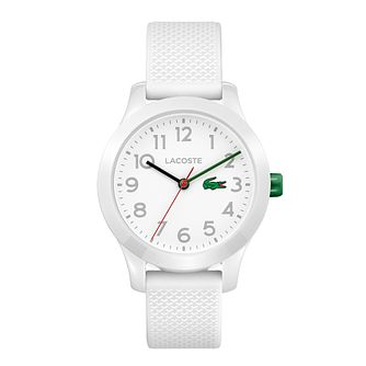 Lacoste 12.12 Children's White Silicone Strap Watch - Product number 2942321