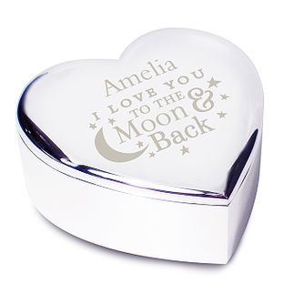Engraved To the Moon and Back Heart Trinket - Product number 2948850