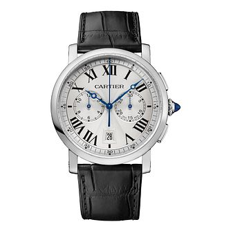 Cartier Rotonde Men's Stainless Steel Leather Strap Watch - Product number 2949105