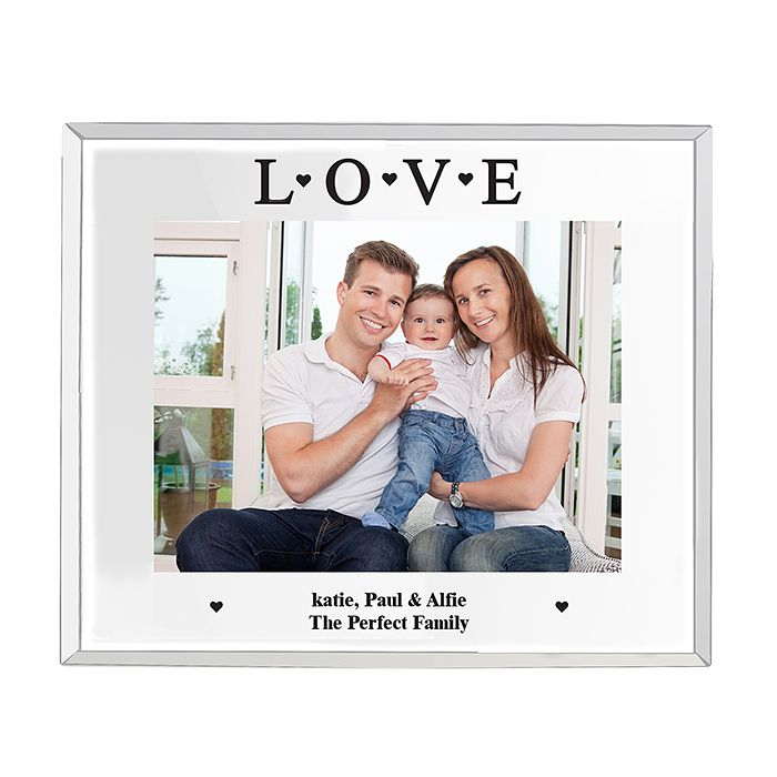 Engraved Mirrored Love Glass Frame 5x7 - Product number 2949466