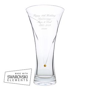 Engraved Large Infinity Vase with Gold Swarovski Elements - Product number 2949482