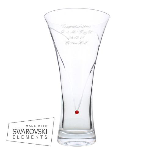 Engraved Large Infinity Vase with Ruby Swarovski Elements - Product number 2949490