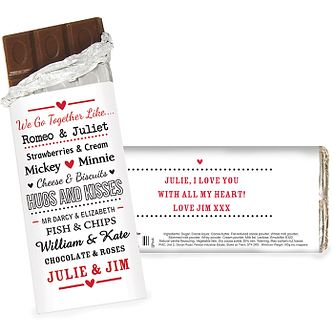 Personalised Couples Chocolate Bar - Product number 2949660