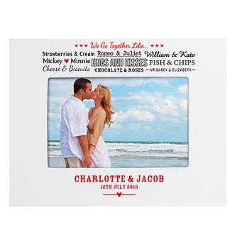 Personalised Couples White 6x4 Frame - Product number 2949938